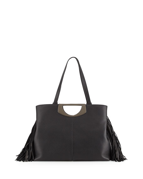 9e8484d402 Christian Louboutin Passage Medium Fringe Shopping Tote Bag, Black
