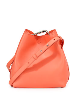 Quill Mini Bucket Bag, Sherbet