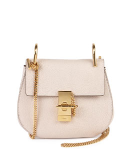 Drew Small Chain Shoulder Bag, Off White