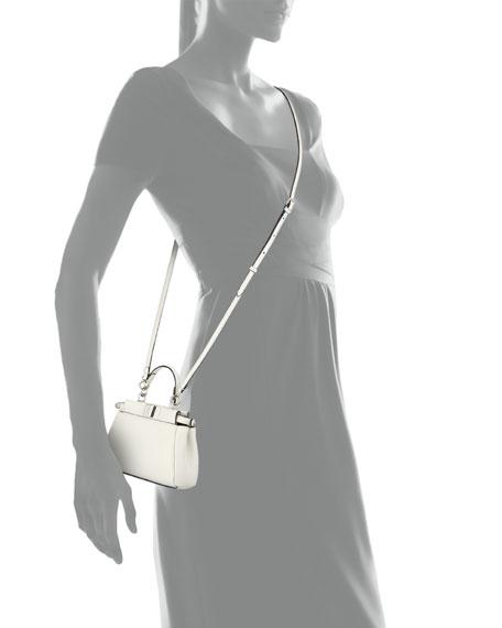 Micro Peekaboo Satchel Bag, White
