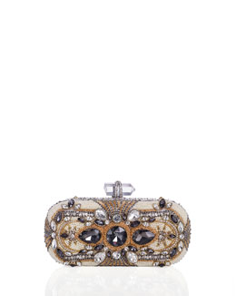 Lily Crystal Box Clutch Bag