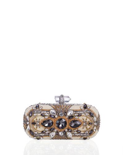 Lily Crystal Box Clutch Bag