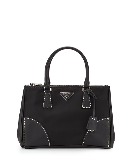 ... ireland prada tessuto and saffiano stitch tote bag black nero 8c254  f6170 a9d33b88d513c