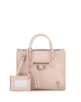 Papier Mini A4 AJ Tote Bag, Light Pink