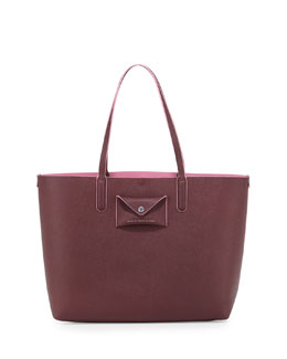 Metropolitote Saffiano Leather Tote Bag, Cardamom