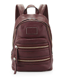 Domo Biker Leather Backpack, Cardamom