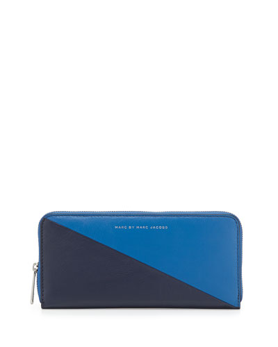 Sophisticato Sliced Slim-Zip Wallet, Salton Sea/Multi