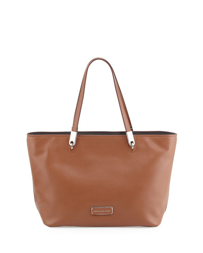 Ligero East-West Leather Tote Bag, Cinnamon Stick