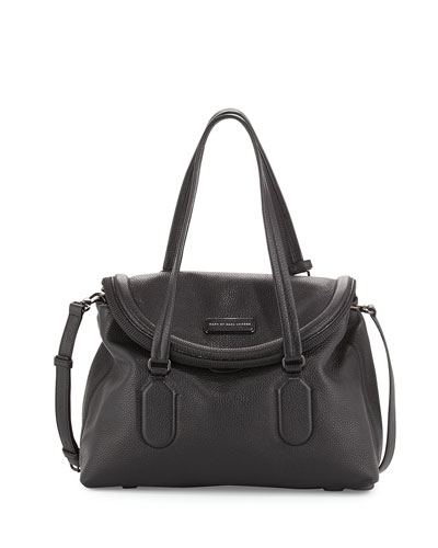Silicone Valley Satchel Bag, Black
