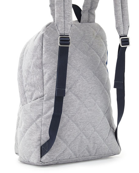 Crosby Quilted Denim Backpack, Pacific Ocean