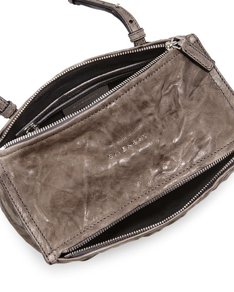 Givenchy Pandora Mini Pepe Crossbody Bag Charcoal