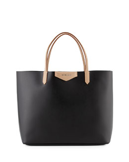 Antigona Large Leather Shopper Bag, Black
