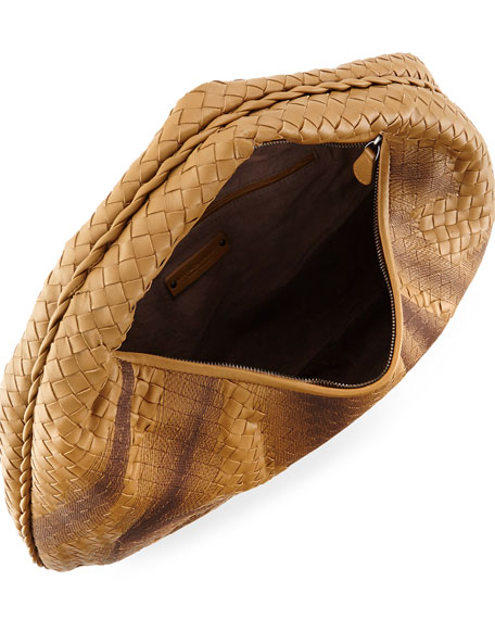 Veneta Intrecciato Large Shadow Hobo Bag, Camel