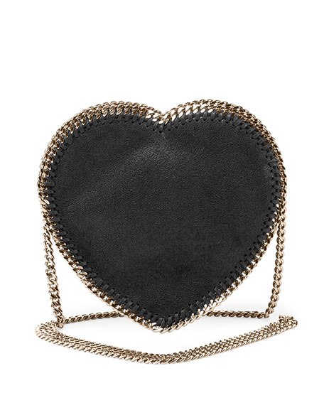Falabella Heart Crossbody Bag, Black