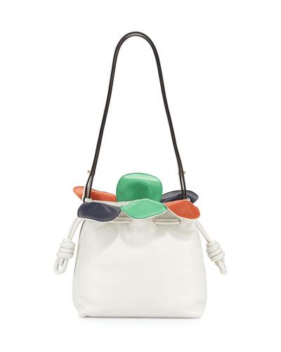Flamenco Small Petal Bag, White Multi