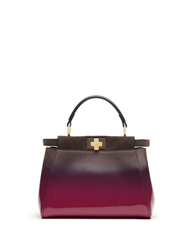 Peekaboo Mini Satchel Bag, Magenta
