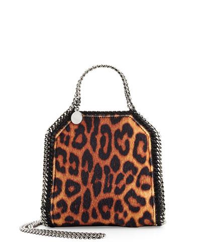 Falabella Leopard-Print Tiny Tote Bag