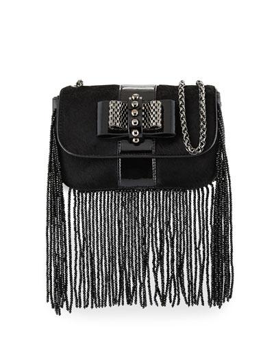 Sweet Charity Fringe Mini Crossbody Bag, Black