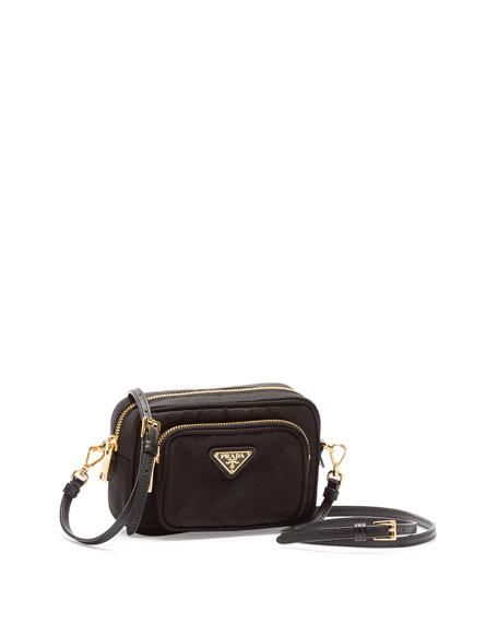 c8ff9f69bbdb Prada Tessuto Small Pocket Crossbody Bag, Black (Nero)