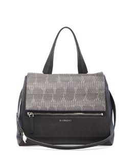 Pandora Pure Medium Ayers Satchel Bag, Dark Gray