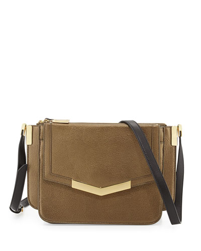 Modena Mini Trilogy Crossbody Bag, Bronze