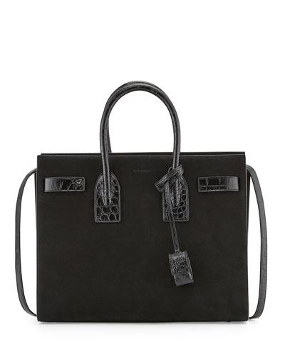 Sac De Jour Suede Small Satchel Bag