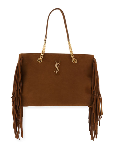 yves saint laurent patent leather bag - Saint Laurent Large Calfskin Fringe Shopping Tote Bag, Tan