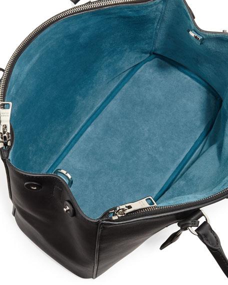 prada bronze leather handbag w side ruffles brown glitter enamel link strap