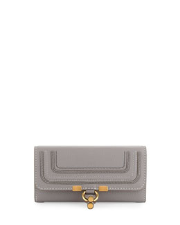 Marcie Continental Flap Wallet, Gray