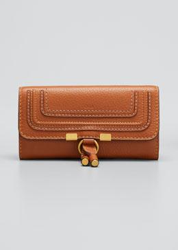 Marcie Continental Flap Wallet, Tan