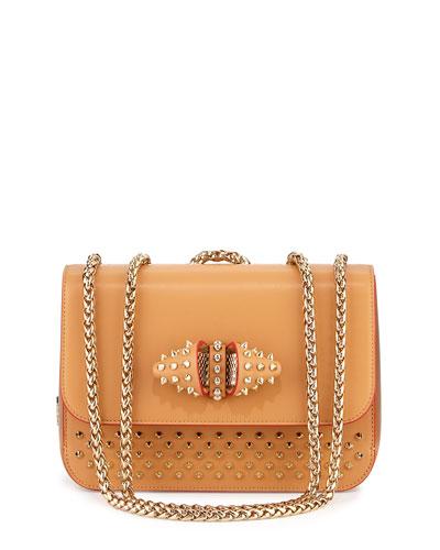 Sweet Charity Medium Calfskin Shoulder Bag, Red/Tan