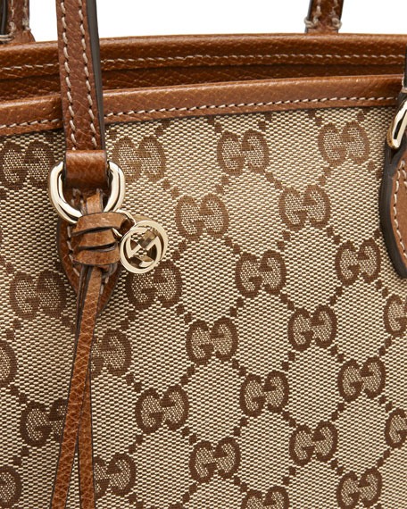 ba34ee1b1d0e9a Gucci Bree Small GG Canvas Tote Bag, Brown