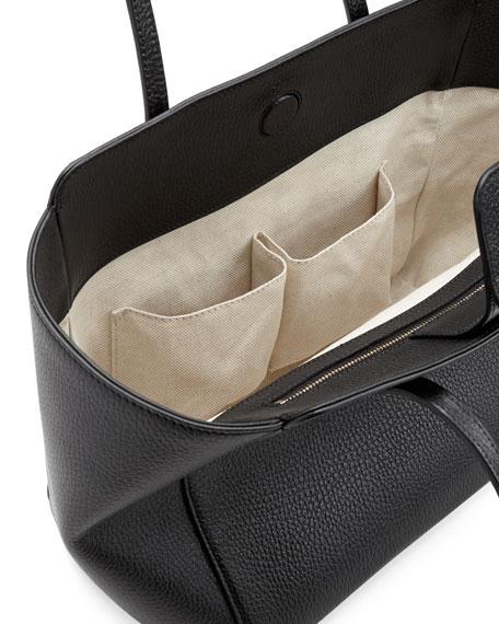 adbb661875ff8a Gucci Swing Small Leather Tote Bag, Black