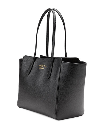 7175f97f644 Gucci Swing Small Leather Tote Bag