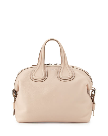 Givenchy Nightingale Small Waxy Leather Satchel Bag, Nude
