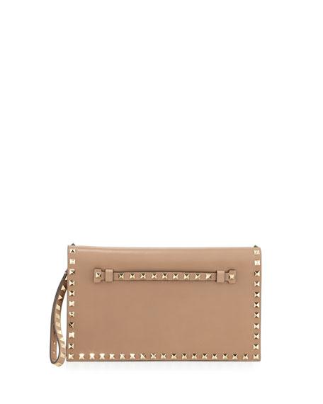Valentino Rockstud Flap Wristlet Clutch Bag GfogN