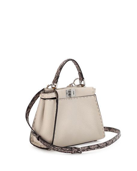 Fendi Selleria Peekaboo Mini Leather Satchel Bag 992ad4da31