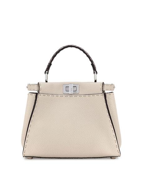 Selleria Peekaboo Mini Leather Satchel Bag, Multi