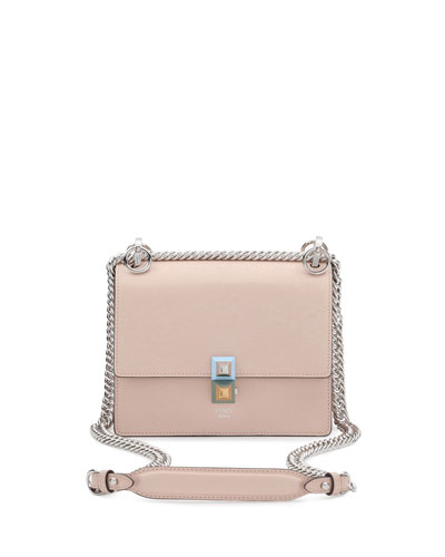 b6f05c7dcbfb Kan I Mini Leather Chain Shoulder Bag Beige Quick Look. Fendi