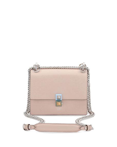Fendi Kan I Mini Leather Chain Shoulder Bag,