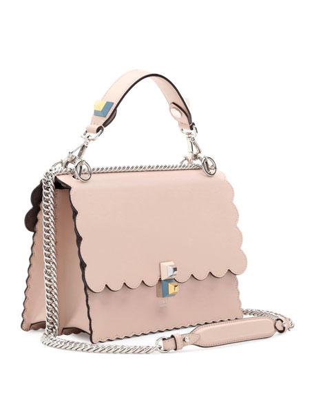8b5c7e309917 Fendi Kan I Scalloped Leather Shoulder Bag