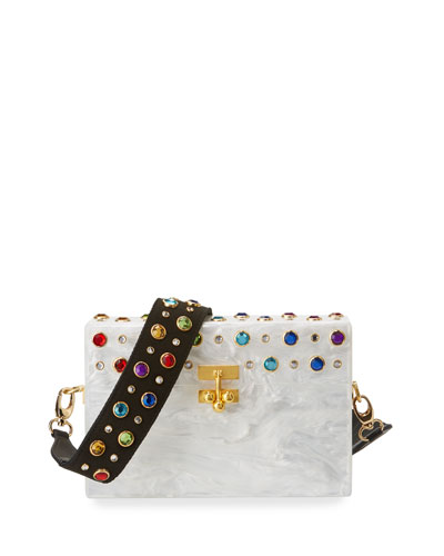 Small Trunk Studded Crossbody Bag