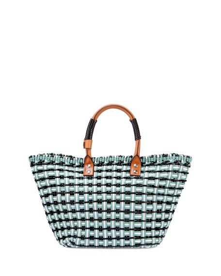 Bistro Cabas Small Straw Tote Bag