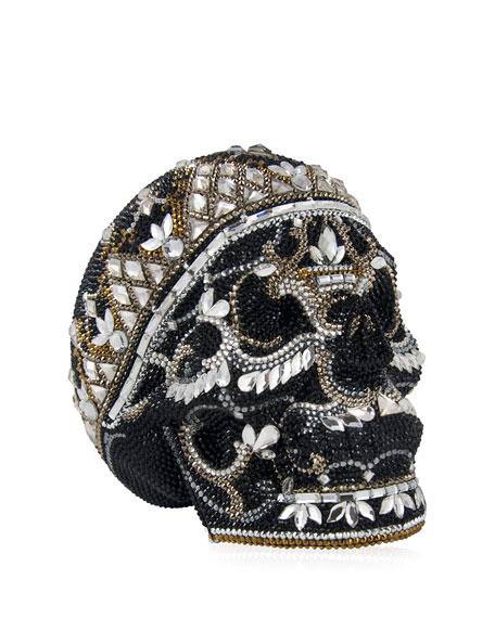 Judith Leiber Couture Skull Bela Lugosi Crystal Evening