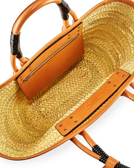 02bff8bbdd41 Balenciaga Bistro Panier Small Straw Tote Bag