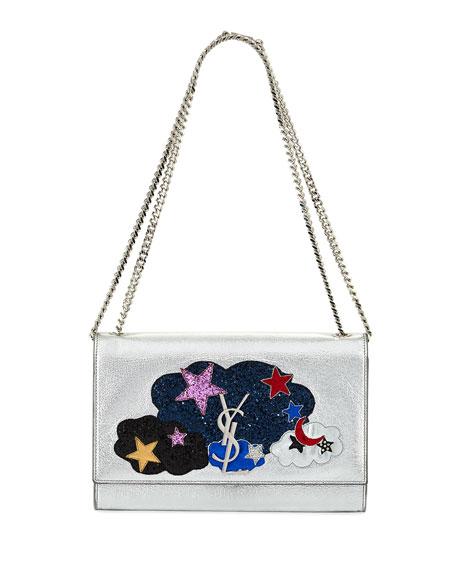 1e9c497f1a57 Saint Laurent Kate Monogram Medium Cloud Chain Shoulder Bag