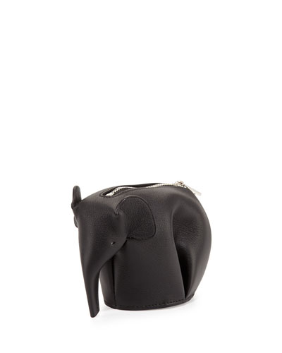 Elephant Leather Coin Case, Black