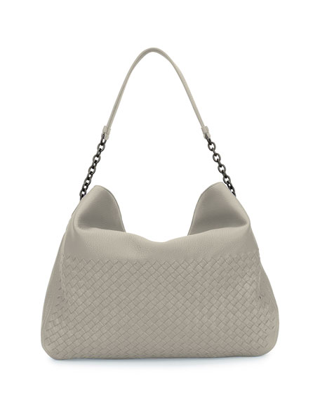 Intrecciato Cervo Flap-Top Hobo Bag