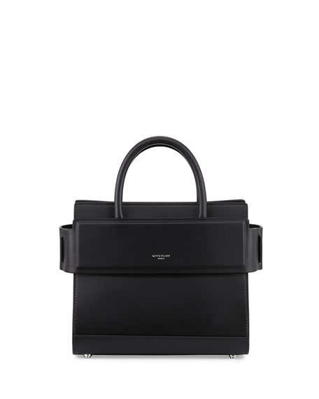Givenchy Horizon Mini Leather Satchel Bag, Black