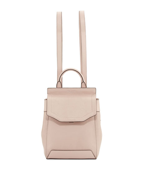 Rag & Bone Pilot Small Leather Backpack, Rose